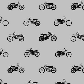 Classic Motorcross Bikes Grey