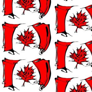 Inkblot Canadian Flag