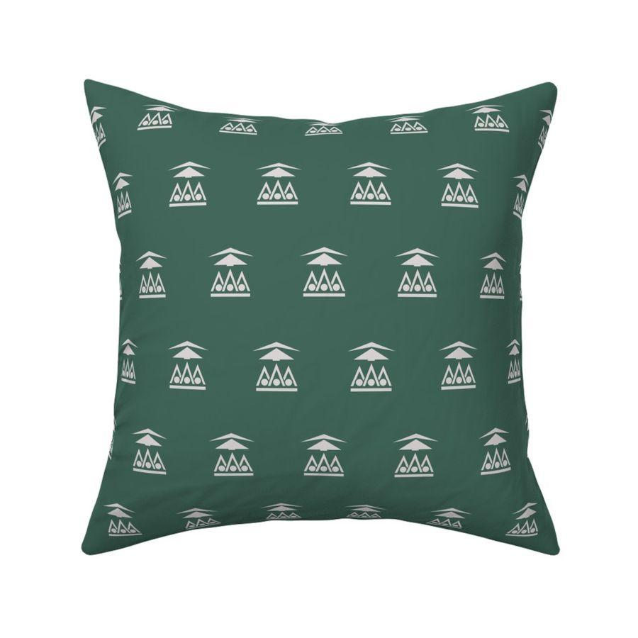 """Art Deco Vintage Forest  Green Aqua Set Home Linen CUSHION COVER PILLOW CASE 18/"""""""