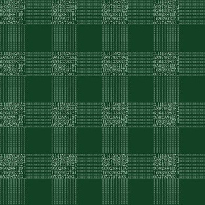 pi are square - chalkboard green gingham