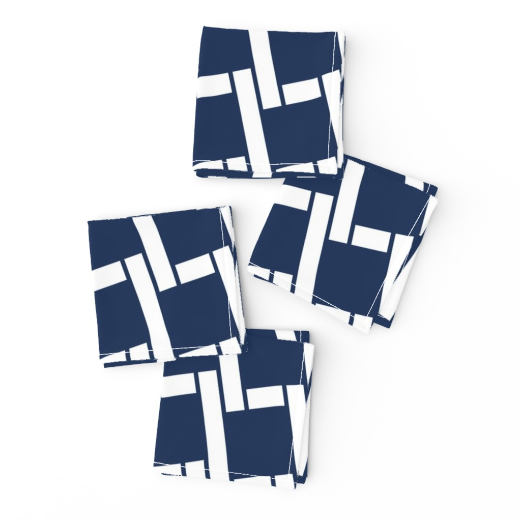 Frizzle Cocktail Napkins featuring Nautical Rope-Navy by tracy_wills