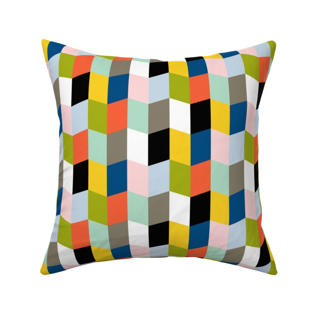 Catalan Throw Pillow featuring Recto Verso || books pages chevrons geometric zig zag arrows reading library book by pennycandy