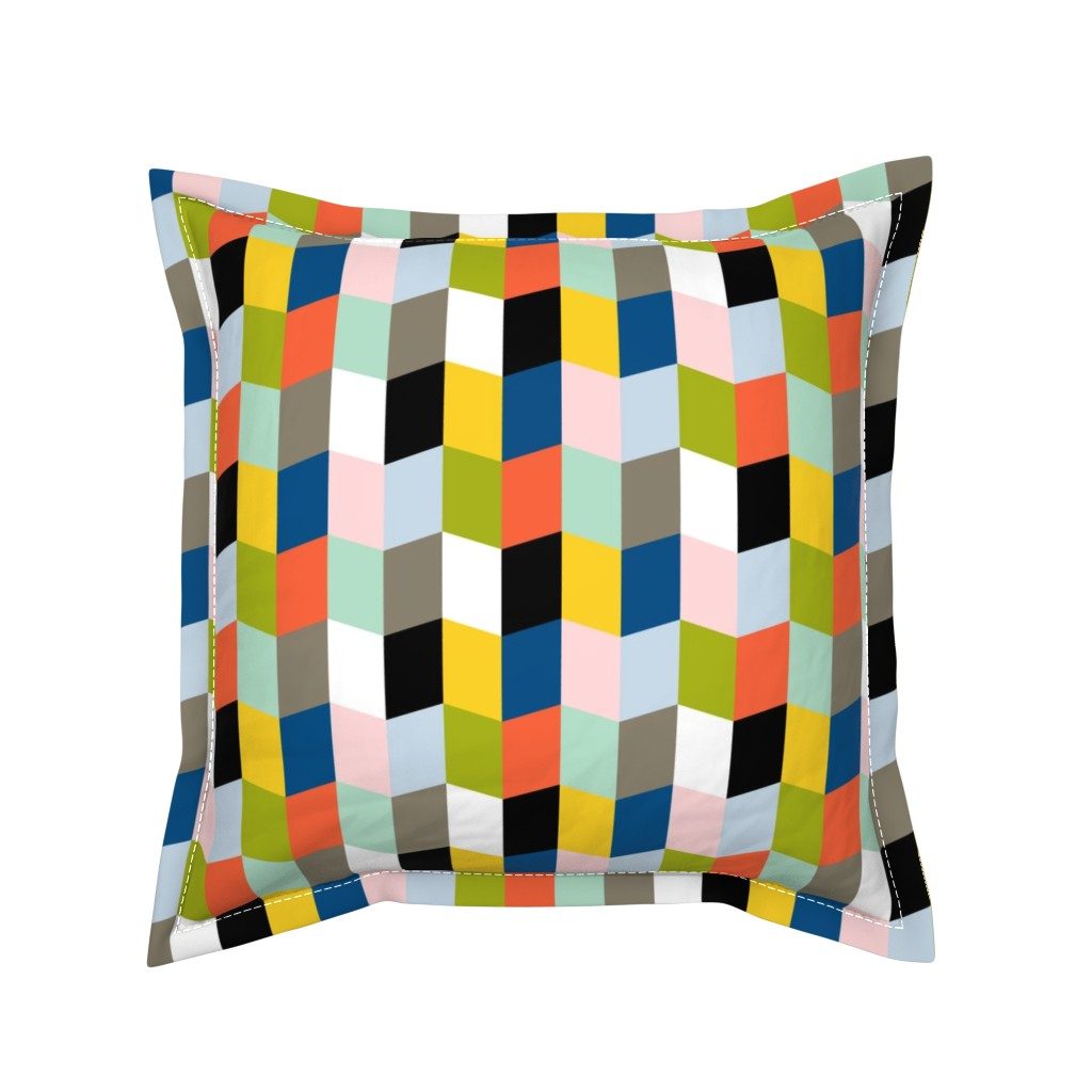 Serama Throw Pillow featuring Recto Verso || books pages chevrons geometric zig zag arrows reading library book by pennycandy