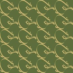 Curlcat small pattern 2011 OLIVE