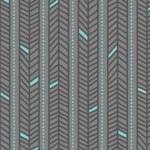 Feather Stripes Grey