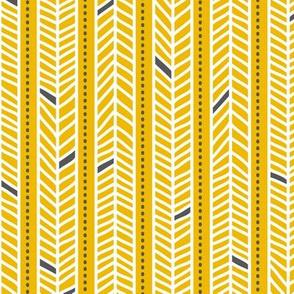 Feather Stripes Yellow