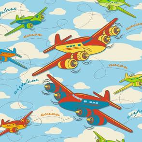 Retro Toy Planes - Largest