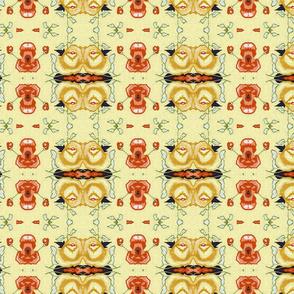 Vintage_china-_Orange_Poppy_wallpaper