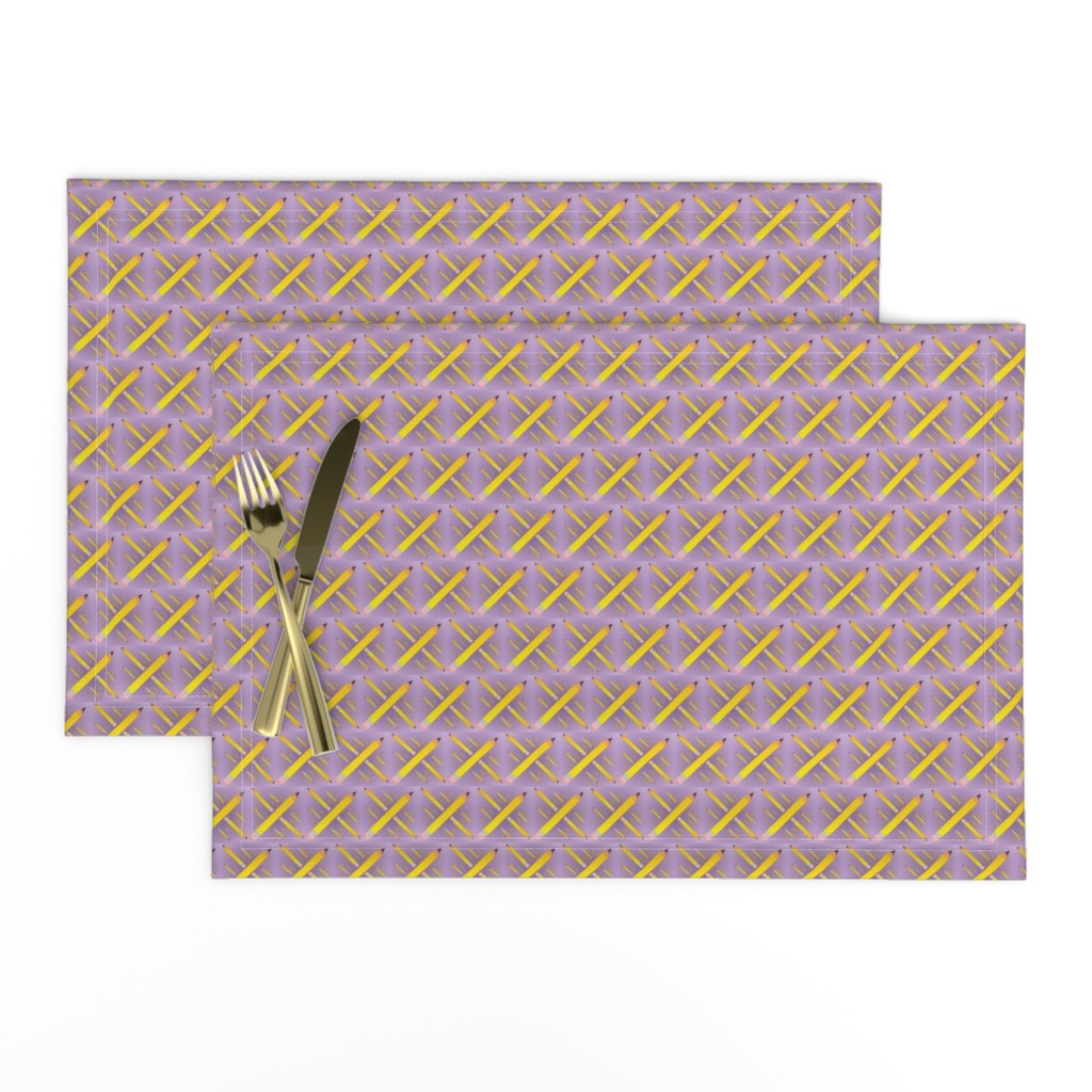 Lamona Cloth Placemats featuring pencil_spoonflower_design_7_27_2012 by compugraphd