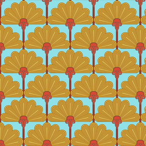 Thinking of Poirot variations   -Sunflower  (Ancient Egyptian_colors_10)