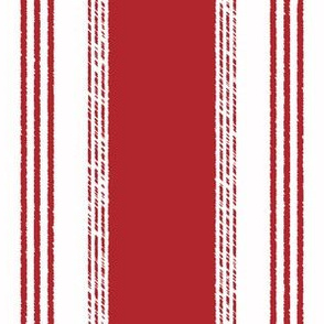 French Ticking in rouge
