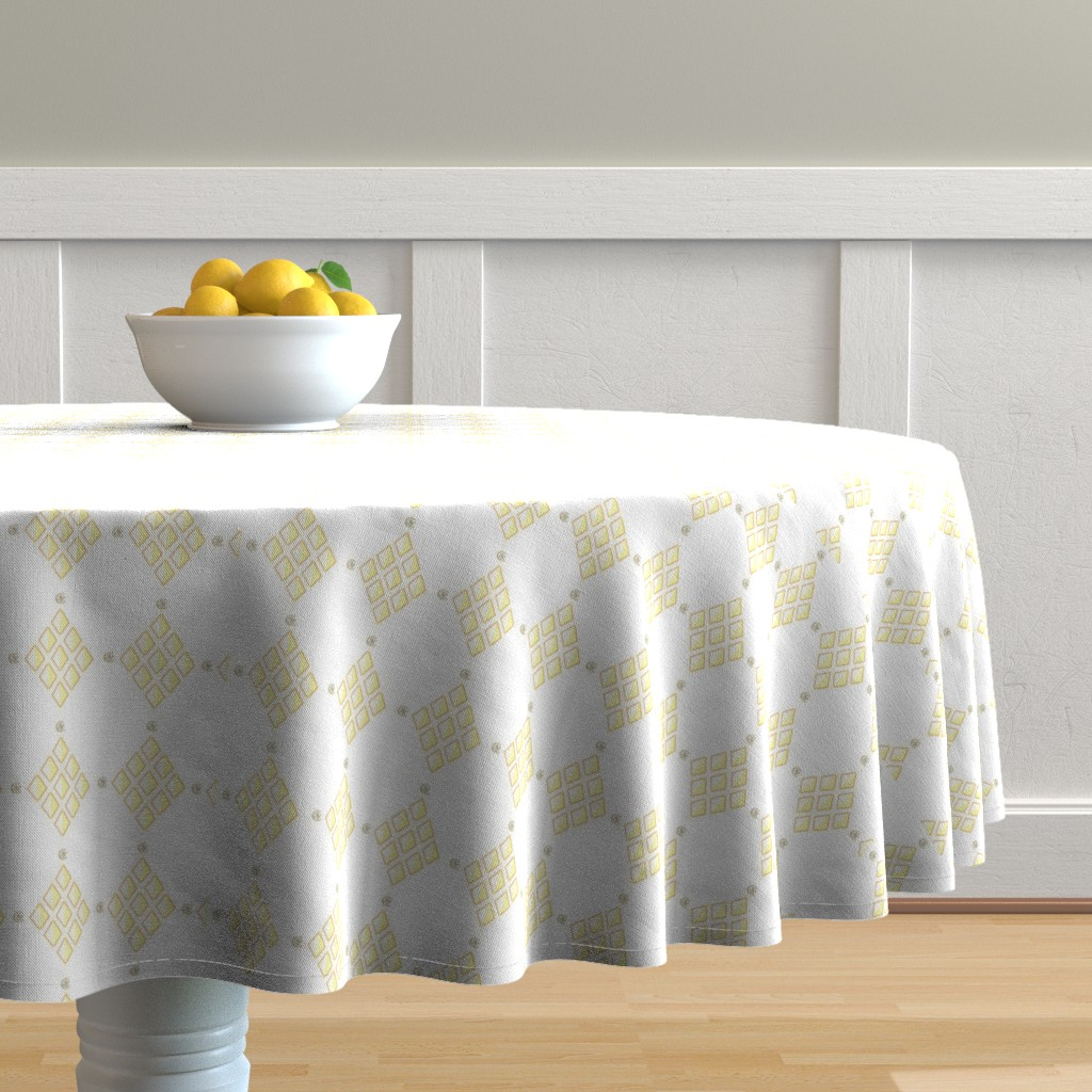 Malay Round Tablecloth featuring Walter Crane | Tiger Lilies w/Signature by starsofsobek