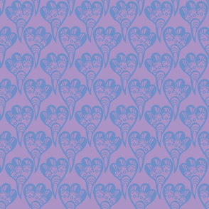 3 Lobe Heart Lavender Blue