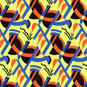 Art Deco butterfly (original colors)