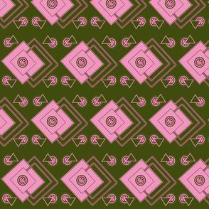 geometric_intricate_green,pink, fuschia