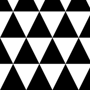 Black & White Triangles XL | pencilmeinstationery.com