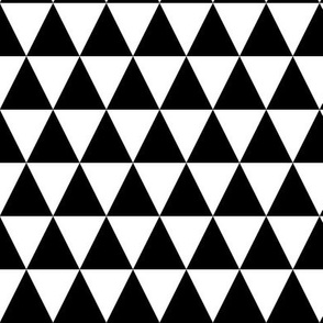 Black & White Triangles Small