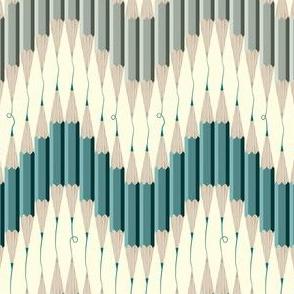 Chevron Pencil Squiggles