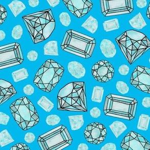 gemstones: aquamarine