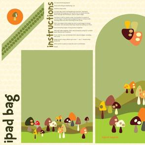 iPad/journal bag for mushroom lovers