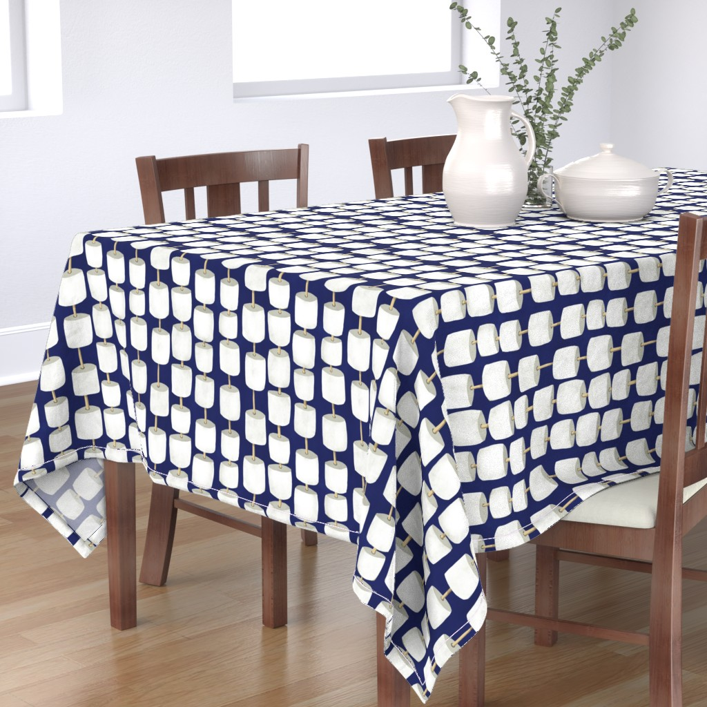 Bantam Rectangular Tablecloth featuring roasting s'mores by cleverviolet