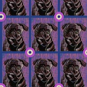 Black Pug Bullseye