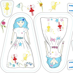 Veronica Blue Doll, Cat & Fairy Plushies