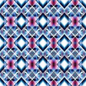 Blue and Pink Diamond Pattern