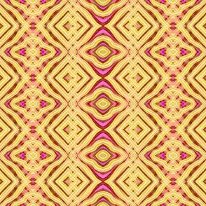 Yellow and Pink Oil Pastel Abstract Pattern
