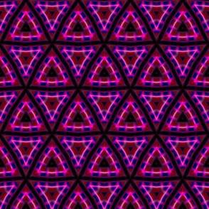 Pink Triangles Tessellation Pattern
