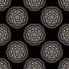Pentagonal Abstract Floral Pattern