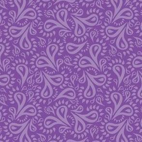 Purple Paisley Flowers