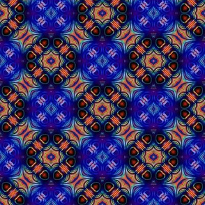 Red and Blue Hearts pattern