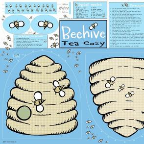Beehive Tea  Cozy (blue)