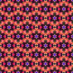 Overlapping Flowers
