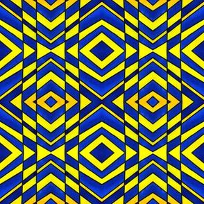 Blue and Yellow Chevron Pattern