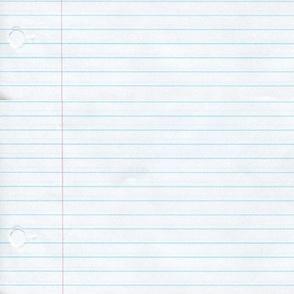 No. 2 notebook paper