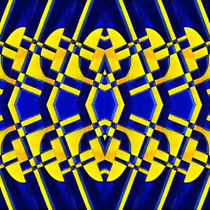 Gold and Blue Abstract Pattern