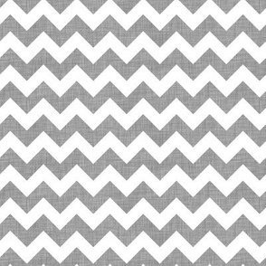 Gray linen chevrons