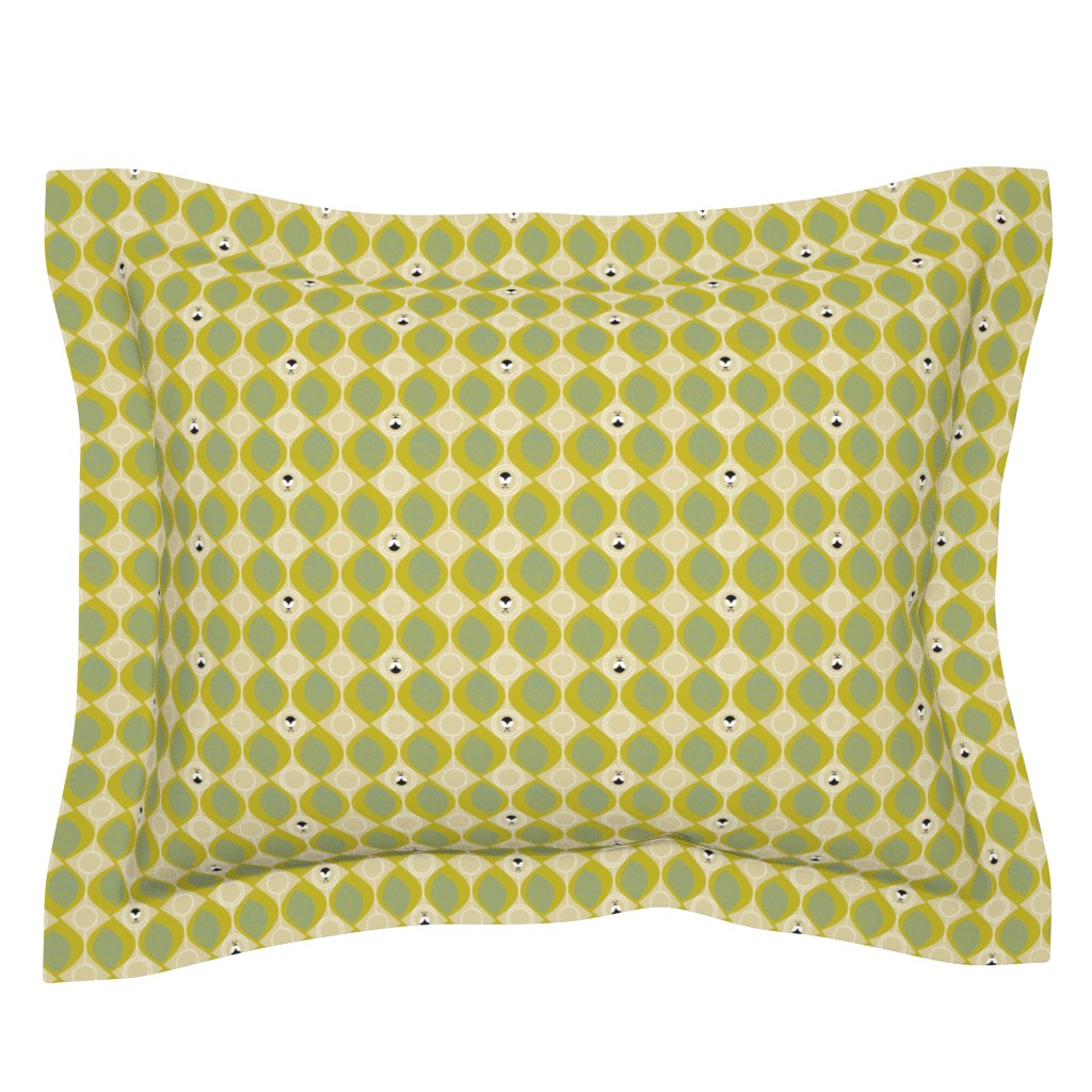 Sebright Pillow Sham featuring leaves_and_bugs by ottomanbrim