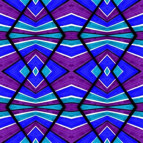 Blue Turquoise and Purple