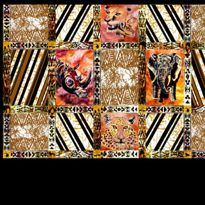 African_Wild_Animal_Quilt_Bottom_Half