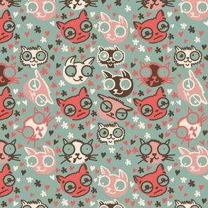 cartoon cats in vector