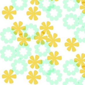 Two Small Flowers - coordinate for Birds and flowers print