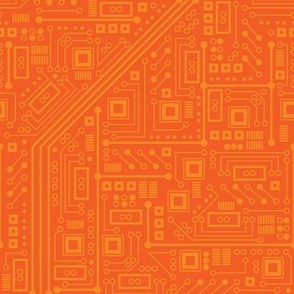 Robot Circuit Board (Orange)