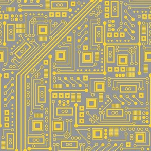 Robot Circuit Board (Yellow & Gray)