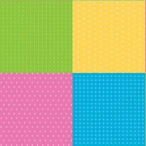 Dinosaurs squares pink