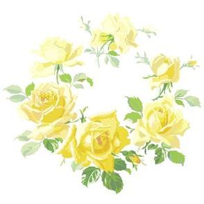 Caroline Yellow Rose Wreath