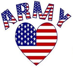 Army USA Flag Heart