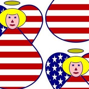 USA Flag Angel Blonde